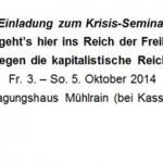 """Seminar """"Wo geht's hier ins Reich der Freiheit? Interventionen gegen die kapitalistische Reichtumsproduktion"""""""
